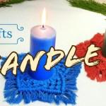Candle Diy Macrame Candle Holder Macrame Craft Diy Macrame Candle Holder Macrame Craft Craft