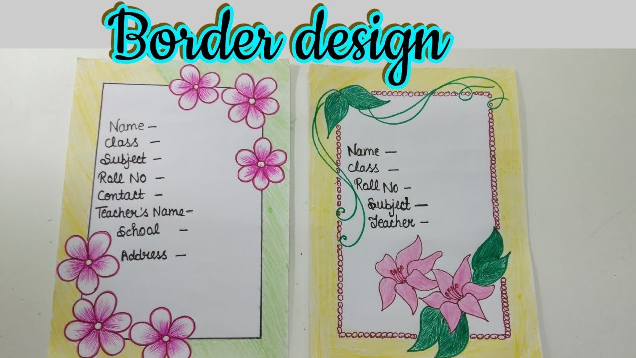 How To Decorate A Page For School Project Diy Craft