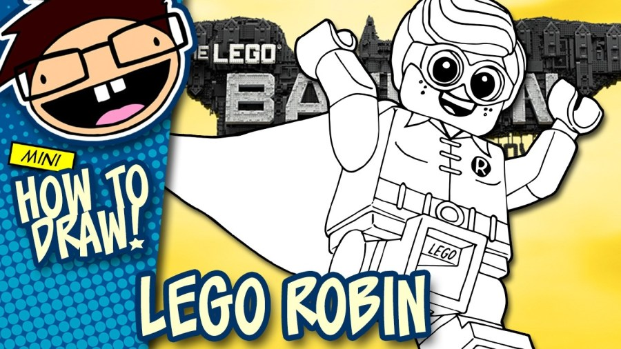How To Draw LEGO ROBIN The Lego Batman Movie Narrated Easy Step