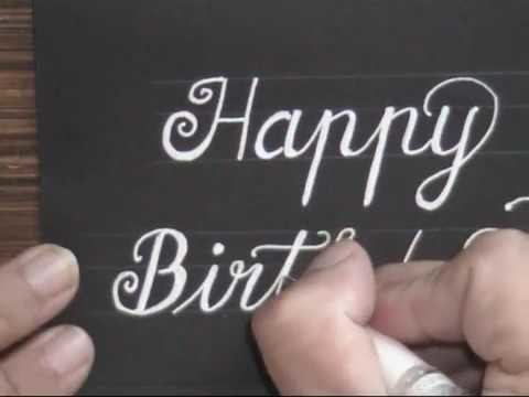 How To Write Cursive Fancy Letters Happy Birthday Card