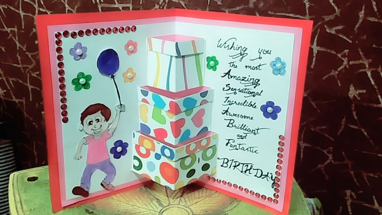 How To Make Birthday Cards Birthday Card For Friend Easy And Simpe Birthday Card