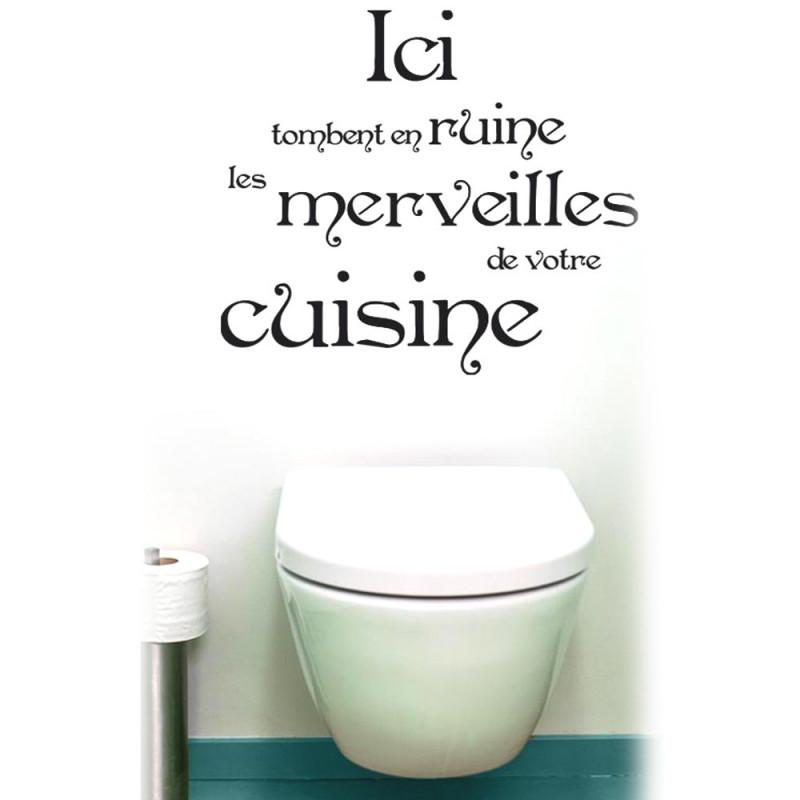 Dco WC Sticker Pour WC Merveilles De Votre Cuisine 690