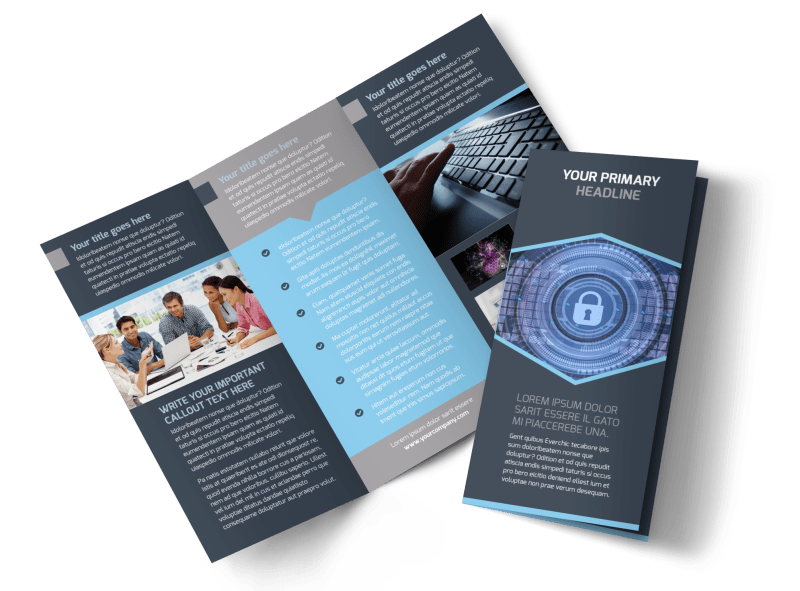 Is Security Tri Fold Brochure Template