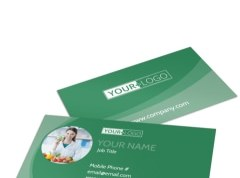 Grabs Full Pixels » Medical   Health Care Business Card Templates   MyCreativeShop Total Nutrition Professionals Business Card Template