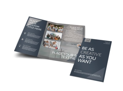 Design Custom Church Brochures Online   MyCreativeShop Church Outreach Program Bi Fold Brochure Template