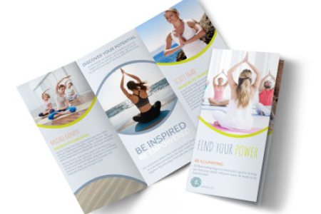 Design Custom Yoga Brochures Online   MyCreativeShop Yoga Instructor Info Tri Fold Brochure Template