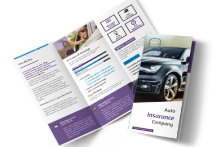 Design Custom Insurance Brochures Online   MyCreativeShop Elite Auto Insurance Tri Fold Brochure Template