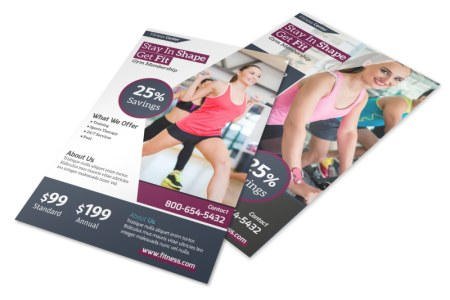 Fitness Membership Details Flyer Template   MyCreativeShop Fitness Membership Details Flyer Template