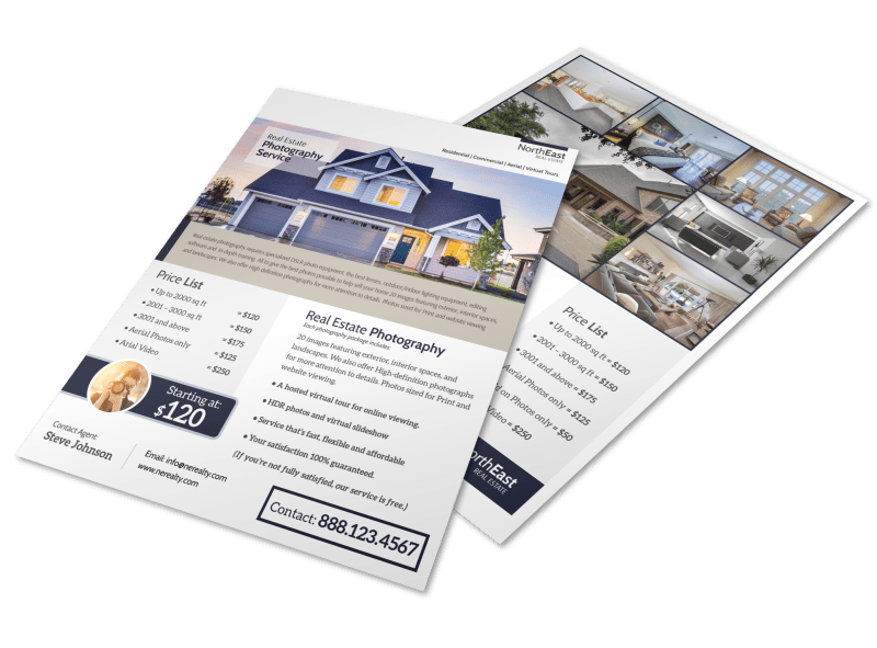 Real Estate Photographer Flyer Template
