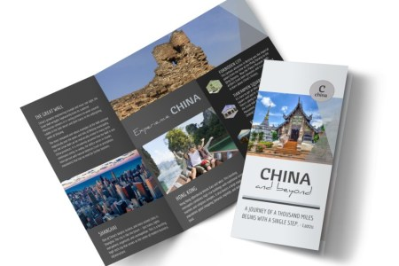 China Travel Tri Fold Brochure Template   MyCreativeShop China Travel Tri Fold Brochure Template