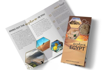 Travel Egypt Tri Fold Brochure Template   MyCreativeShop Travel Egypt Tri Fold Brochure Template