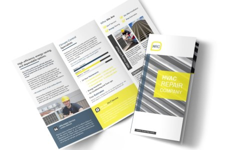 HVAC Repair Company Tri Fold Brochure Template   MyCreativeShop HVAC Repair Company Tri Fold Brochure Template