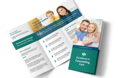 Happy Counseling Tri Fold Brochure Template   MyCreativeShop Happy Counseling Tri Fold Brochure Template