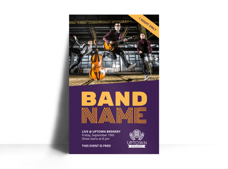 music band name poster template