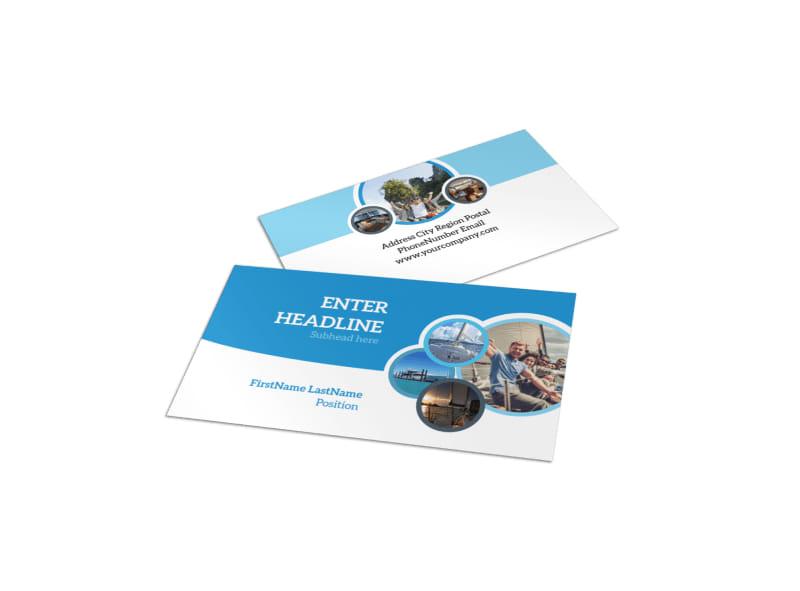 Yacht Tour Business Card Template MyCreativeShop