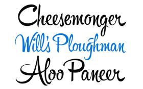 Hipster Script font sample