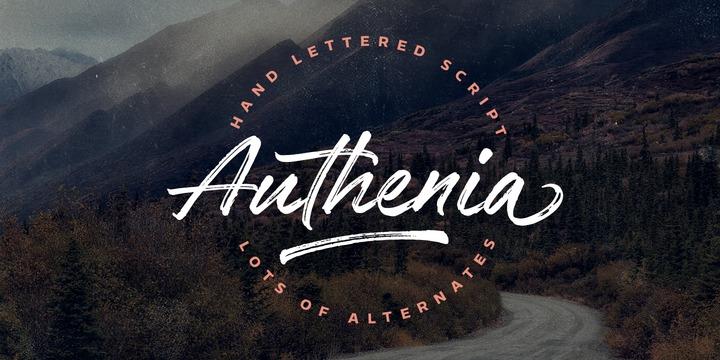 Authenia font family – FintFont