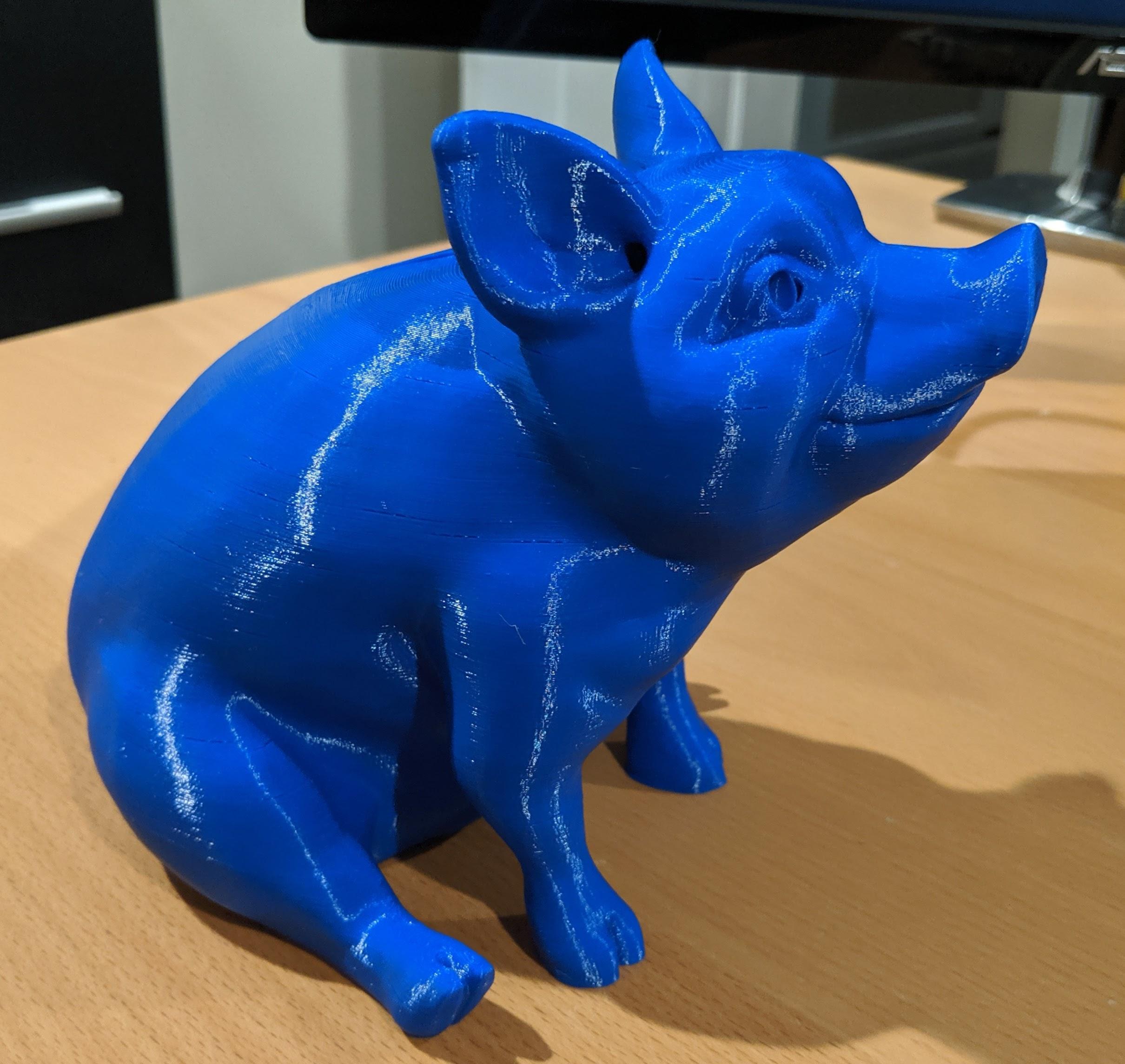 3d Printable Piggy Sitting Piggy Bank Version By Louise