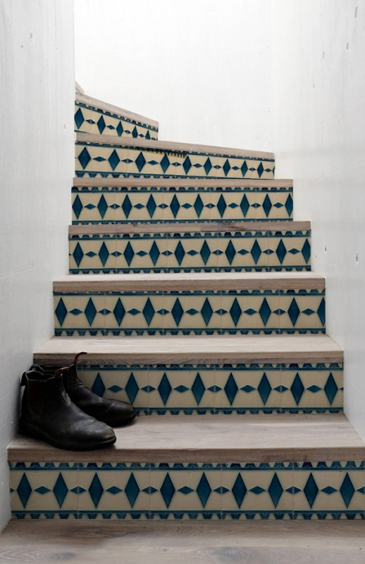stair stickers art deco tiles