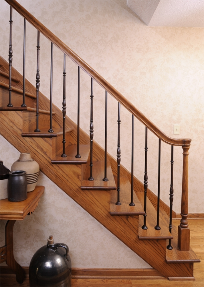 Iron Stairways Systems Lj Smith Stair Systems | Shoe Rail For Iron Balusters | Modern | Oak | Slides | Cast Iron | Remodel
