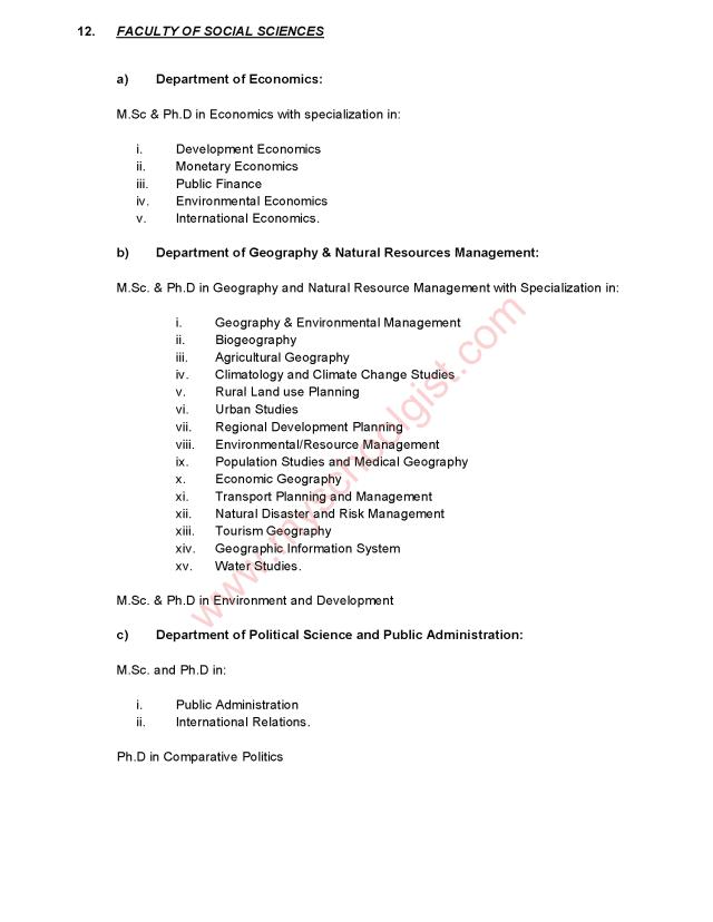 UNIUYO Postgraduate Courses