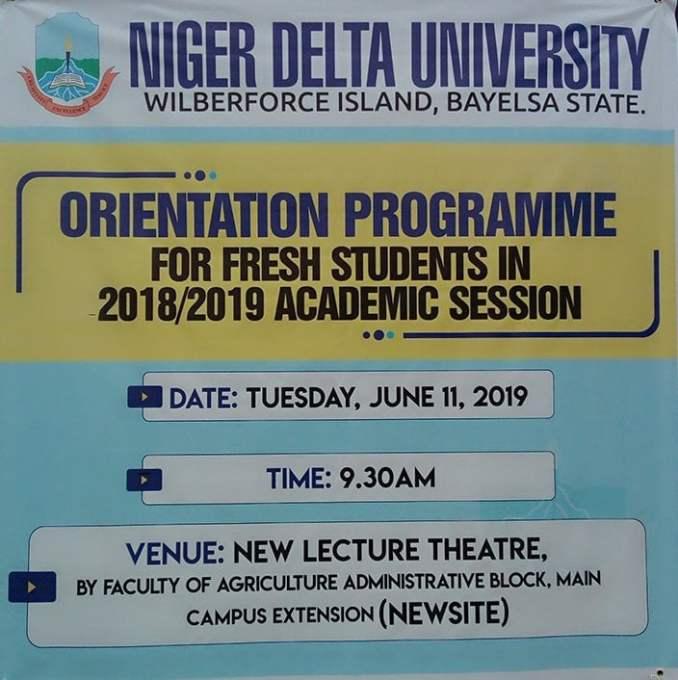 Niger Delta University (NDU) Orientation Programme 2018:2019