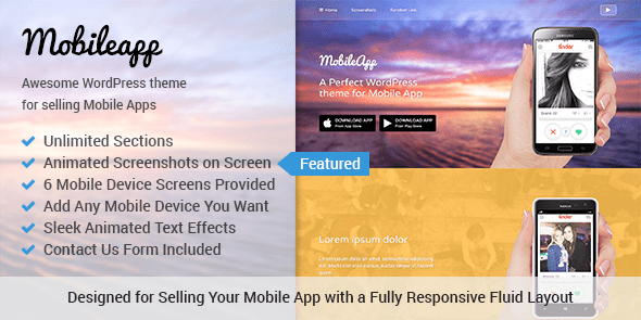 Promote Your Mobile Application or Game With This Powerful App WordPress Theme