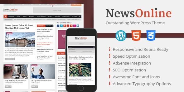 NewsOnline: Beautiful & Professional WordPress Magazine Theme