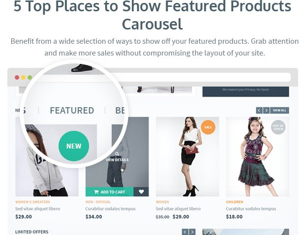 5 Top Places to Show Featured Products Carousel