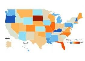 U.S. Map: Tracking Jobless Claims, Week Ending October 3