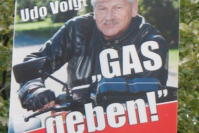 """Kilka lat temu Voigt prowadził kampanię NPD pod hasłem """"Dodaj gazu"""""""