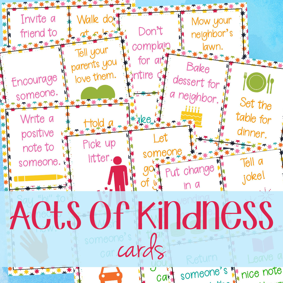 64 Random Acts Of Kindness Cards For Kids
