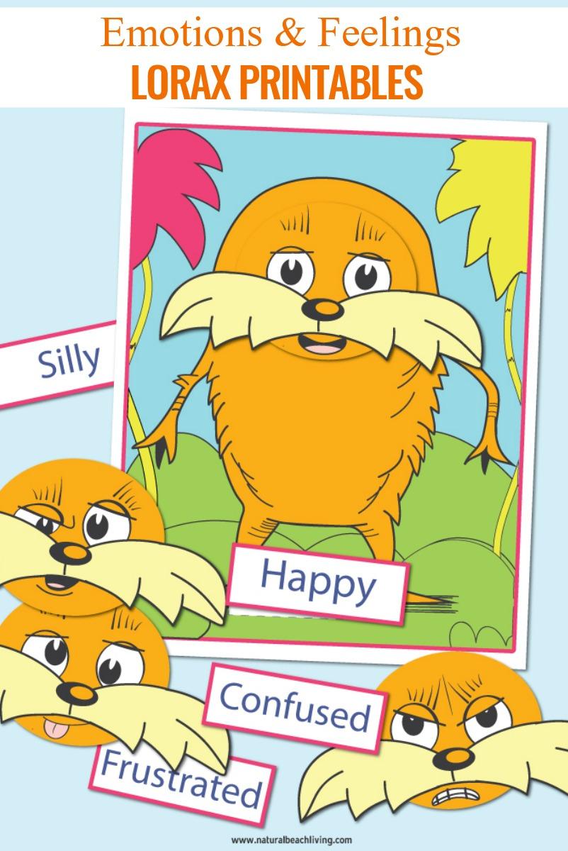 Dr Seuss Printables Preschool Emotions And Feelings Lorax Activities Natural Beach Living