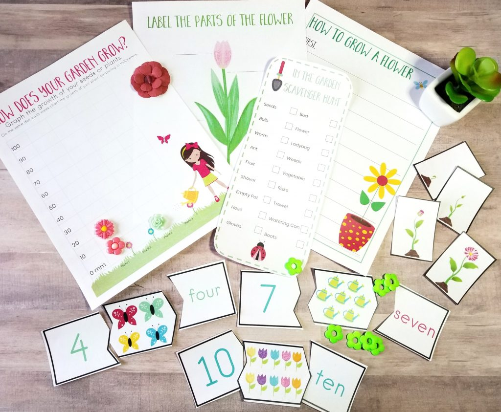 Preschool Garden Theme Printables