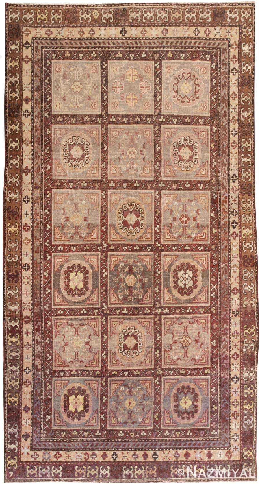 Oriental Garden Design Antique Khotan Rug 44543 By Nazmiyal Rugs