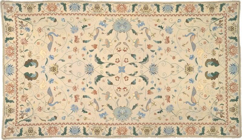 Ejemplo de alfombra Arraiolos Nazmiyal
