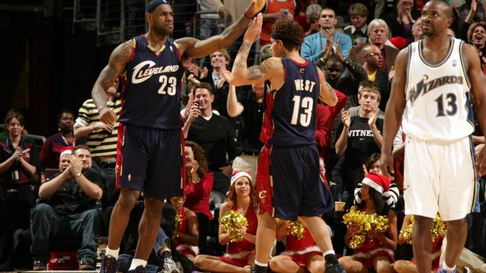 Image result for 2008: Cavs vs. Wizards christmas day