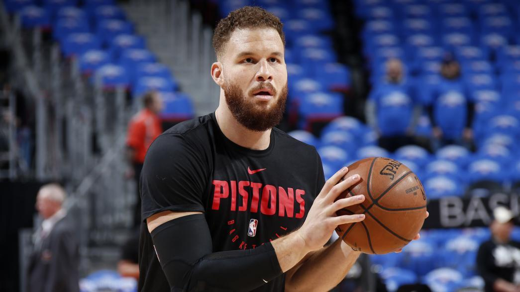 pistons' griffin (knee) still questionable for game 2 Pistons' Griffin (knee) still questionable for Game 2 blake griffin pregame iso warmup 0417