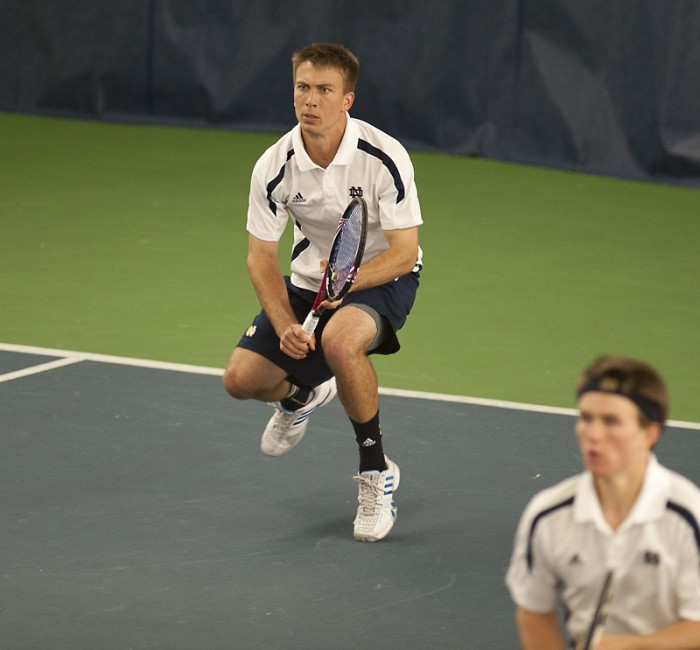 Matt Dooley, a senior tennis player,  detailed his life as a gay athlete at Notre Dame in an article published Monday on Outsports.com.