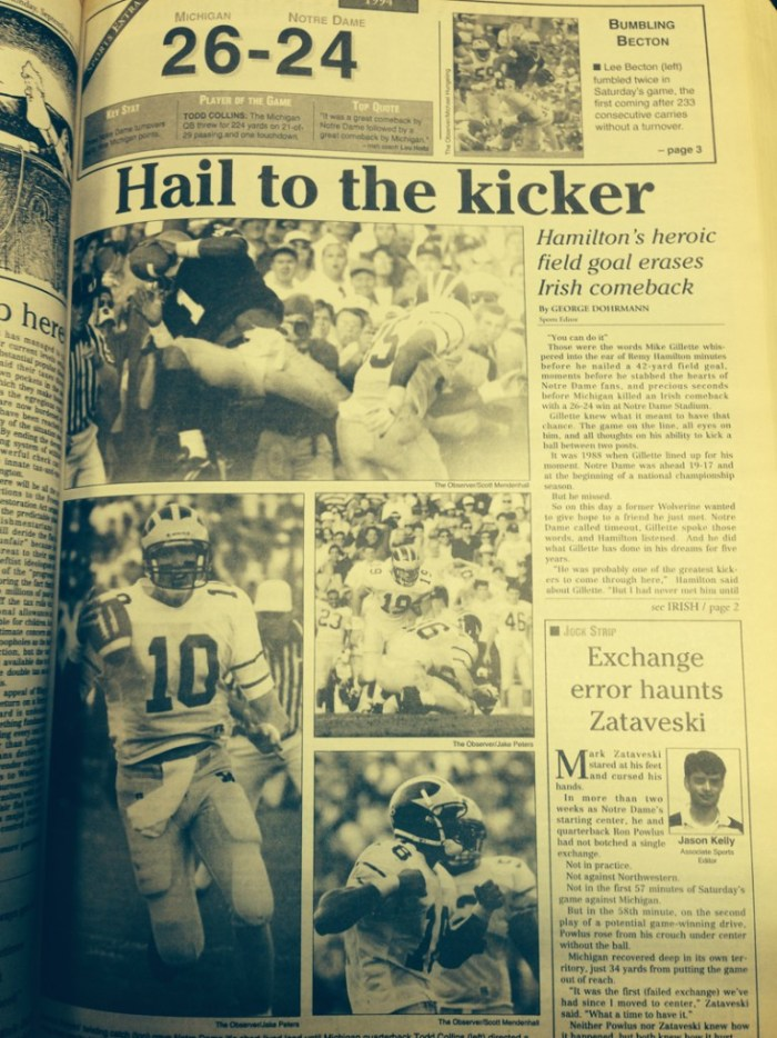 The Observer from Sept. 12, 1994.