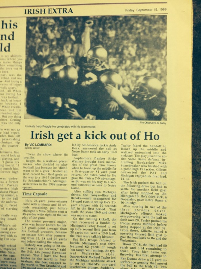 The Observer from Sept. 15, 1989.