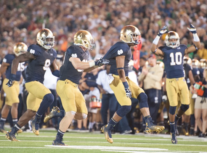 20140906, 2014-2015, 20140906, by Zach Llorens, Football, michigan, Notre Dame Stadium, Win 31-0-7