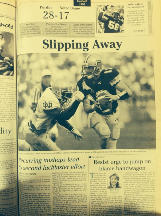 The Observer from Sept. 13, 1997.