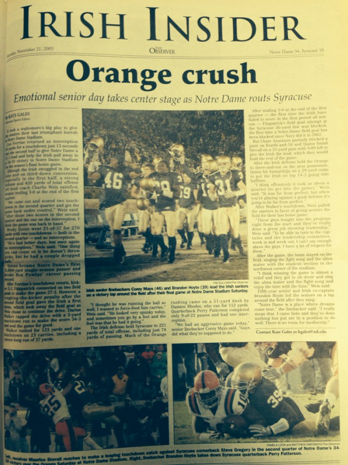 The Observer from Nov. 21, 2005.