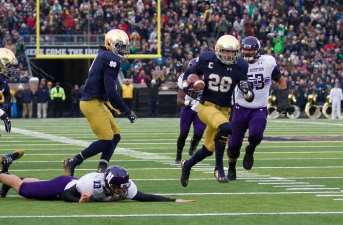 Collinsworth, 20141115, 2014-2015, 20141115, Emmet Farnan, Football, Home, Northwestern, Notre Dame Stadium, The Observer, vs Northwestern