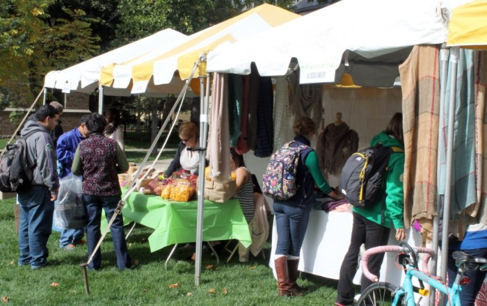 Student Government sponsored Quad Markets on Oct. 10 on North Quad. Local vendors sold goods ranging from accessories to produce.