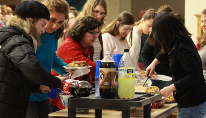 Saint Mary's students tasted a family-style Tunisian meal at the third annual Diversity Dinner in Regina Hall's Lounge on Monday.