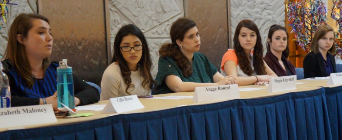"Saint Mary's students examine ""The Hunting Ground"" and the  issue of sexual assualts on college campus during a Monday panel."
