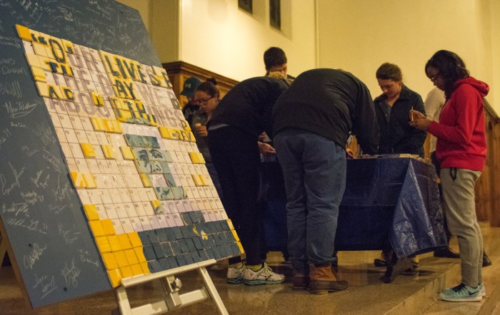 20160114, 011416, Hesburgh Mosaic, Michael Yu, South Dining Hall