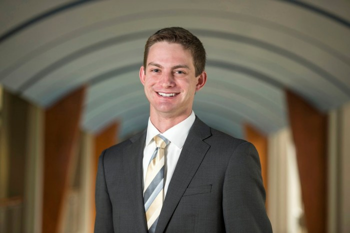 Finance major Stephen Schafer was named Notre Dame's first salutatorian in 45 years Monday.